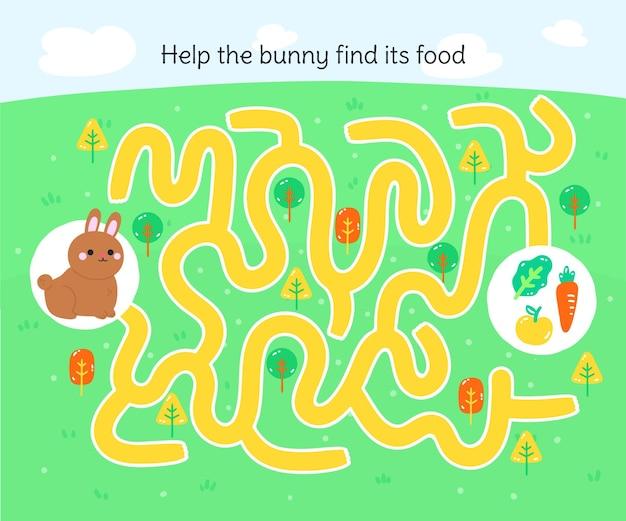Labyrinthe Pour Les Enfants De La Maternelle Vecteur gratuit