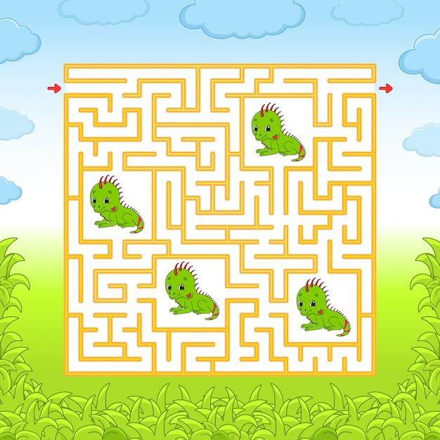 Labyrinthe. Vecteur Premium