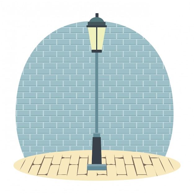 Lampadaire urbain Vecteur Premium