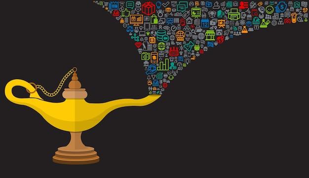 Lampe Magique Aladin Prodip Avec Des Icônes Télécharger