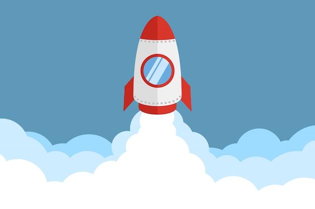 Lancement de fusée Vecteur Premium