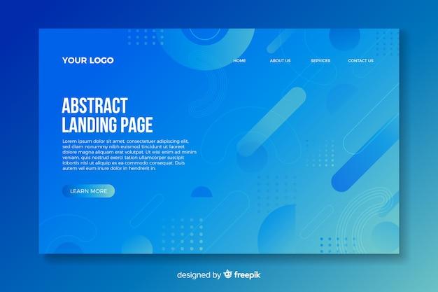 Landing page avec des formes abstraites Vecteur gratuit