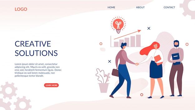 Landing page pour une solution créative et innovante Vecteur Premium