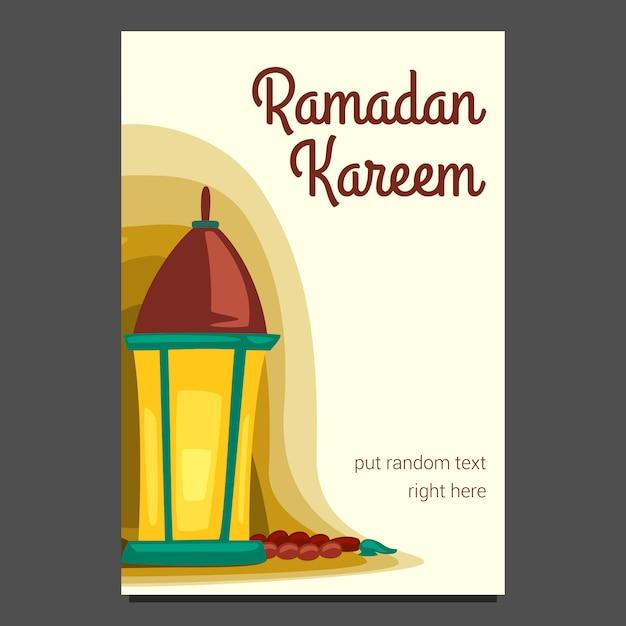 Lanterne Ramadan Kareem Carte Impression Illustration Modle