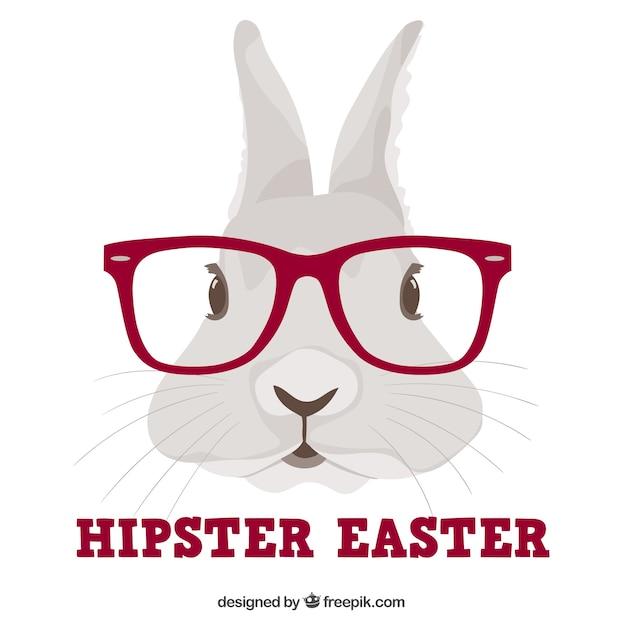 Lapin hipster Vecteur gratuit