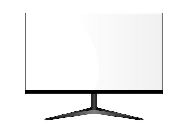 Large moniteur sur pied. affichage tv lcd. Vecteur Premium