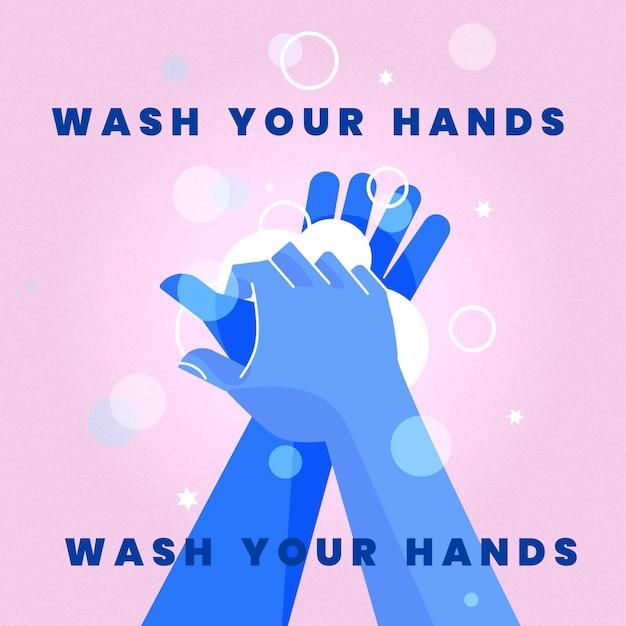 Lavez-vous Les Mains Illustration Vecteur Premium