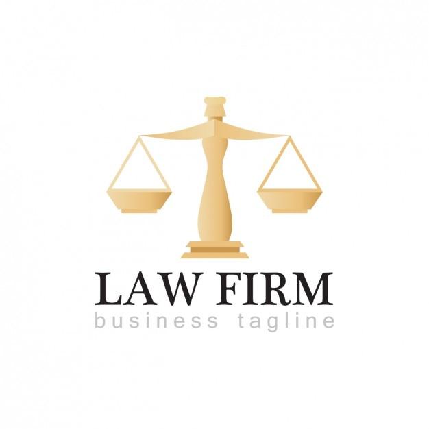 Law firm logo template Vecteur gratuit