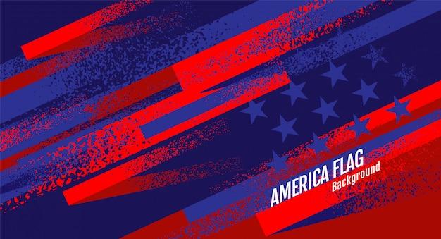 Layout usa flag, template banner Vecteur Premium