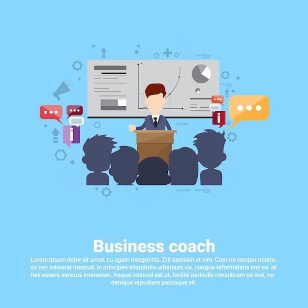 Leadership management coaching business Vecteur Premium