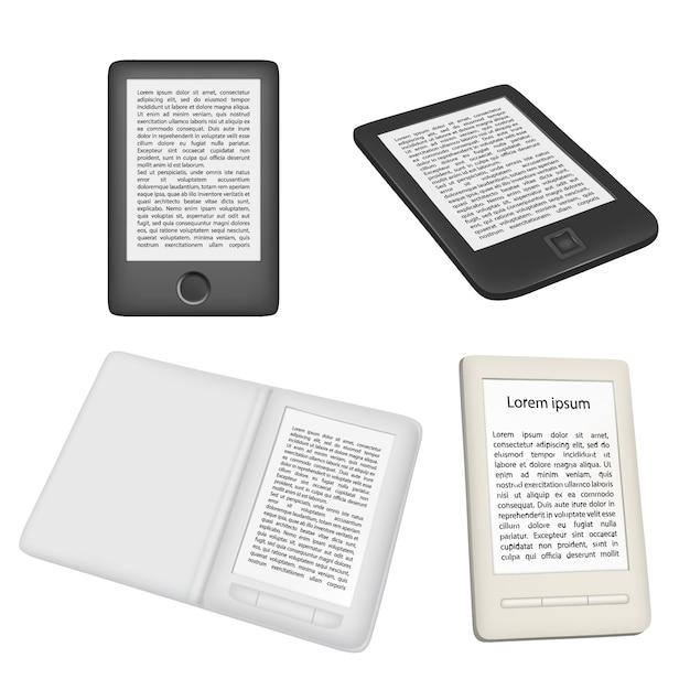 Lecteur De Livre Electronique Ou Vecteur De Lecteur
