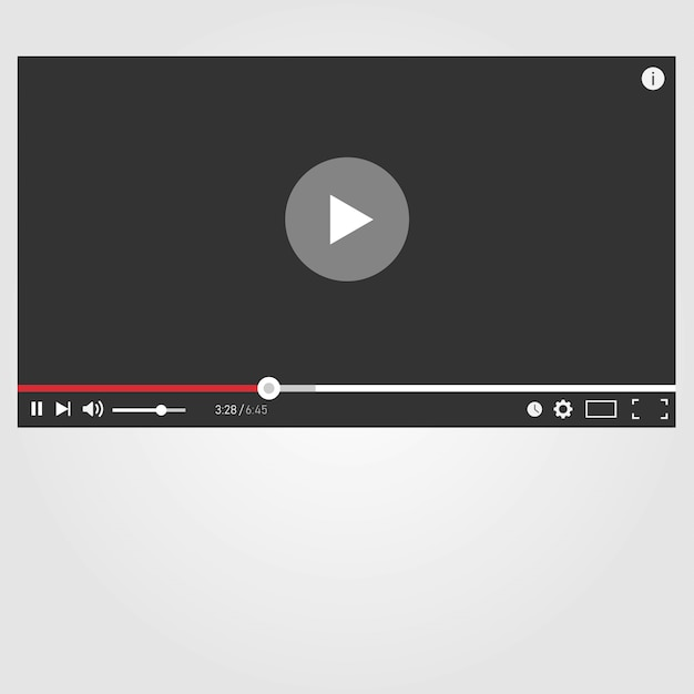 Lecteur youtube Vecteur Premium