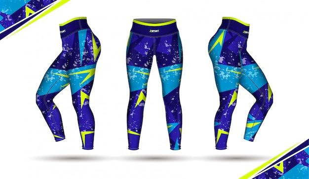 Leggings pants training fashion Vecteur Premium