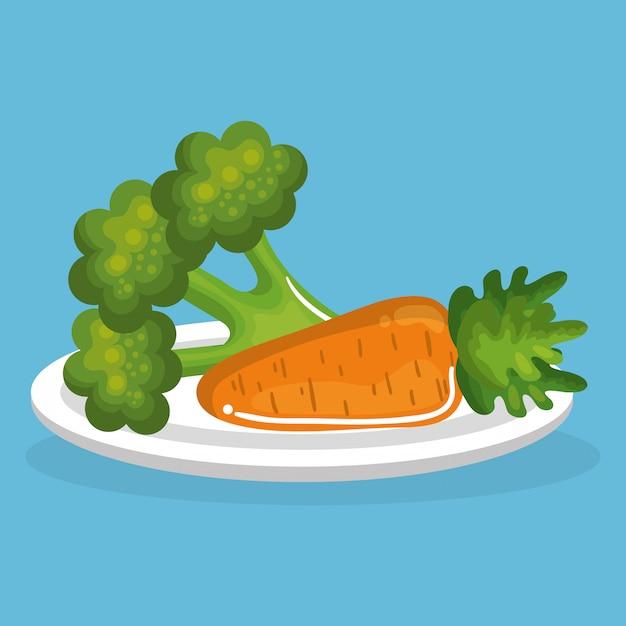 Légumes Délicieux Plats Petit Déjeuner Vecteur gratuit