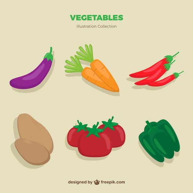 Légumes dessinés à la main pack Vecteur gratuit