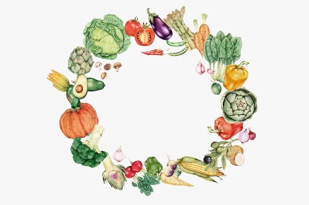 Légumes frais et sains Vecteur gratuit
