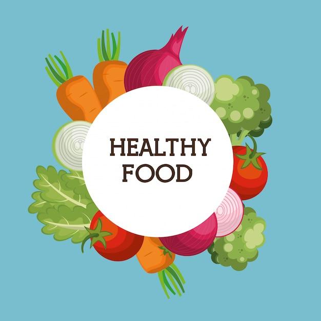 Légumes sains aliments sains Vecteur gratuit