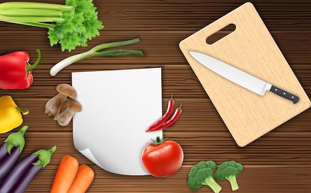 Légumes Sur La Table Vecteur Premium