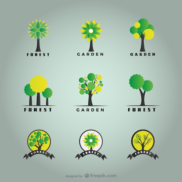 Les arbres et les logos de la for t pack t l charger des for Logos de jardines