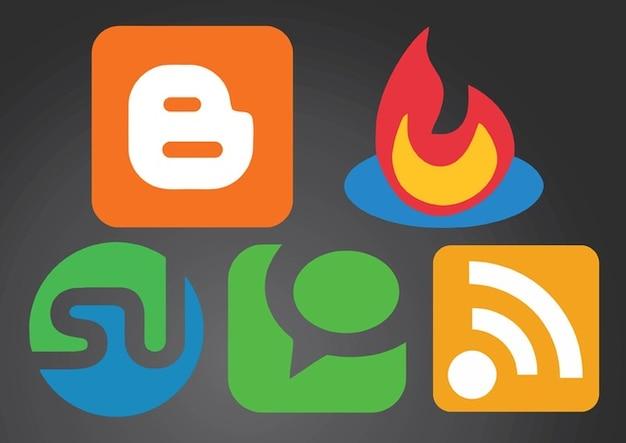 les logos de r u00e9seaux sociaux