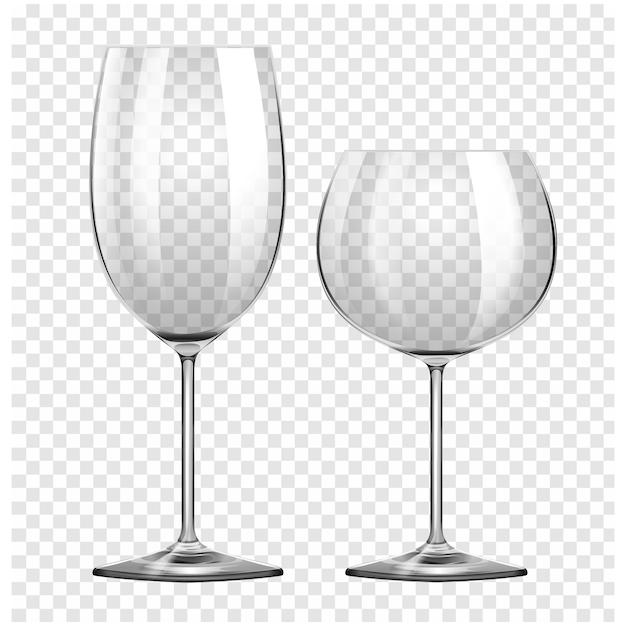 Les verres à vin mis Vecteur gratuit