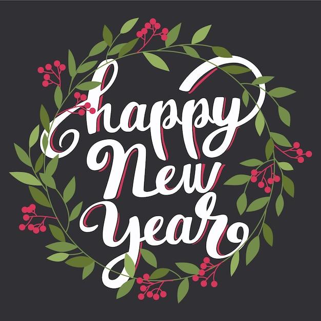 Lettrage Bonne Année 2021 Vecteur gratuit