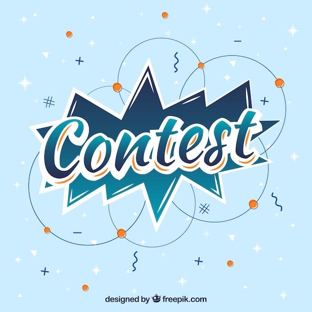 Lettrage de concours moderne avec un design plat Vecteur gratuit