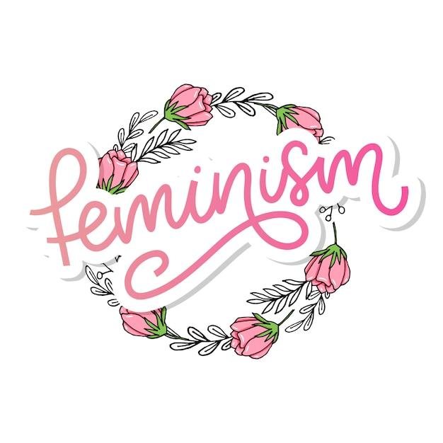 Lettrage Féminisme Vecteur Premium