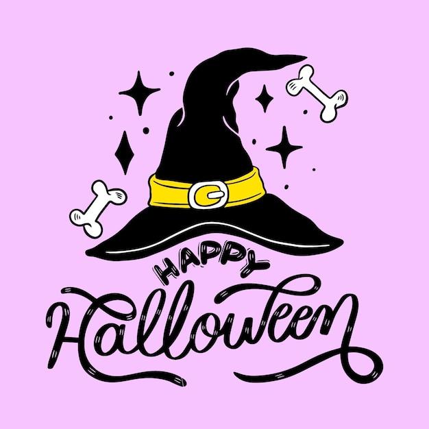 Lettrage D'halloween Heureux Vecteur Premium