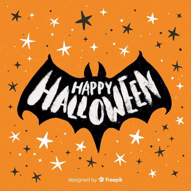 Lettrage avec joyeux halloween Vecteur gratuit