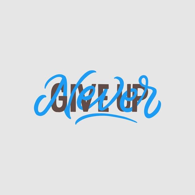 Le lettrage à la main et la typographie citent la motivation pour la vie Vecteur Premium