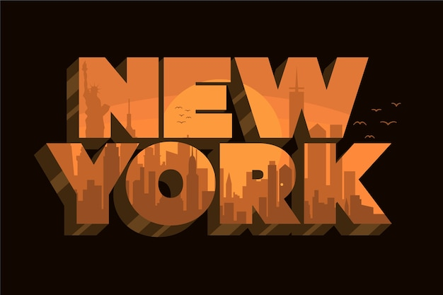 Lettrage de new york Vecteur gratuit