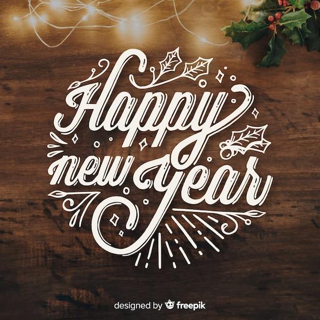 Lettrage nouvel an 2019 Vecteur gratuit