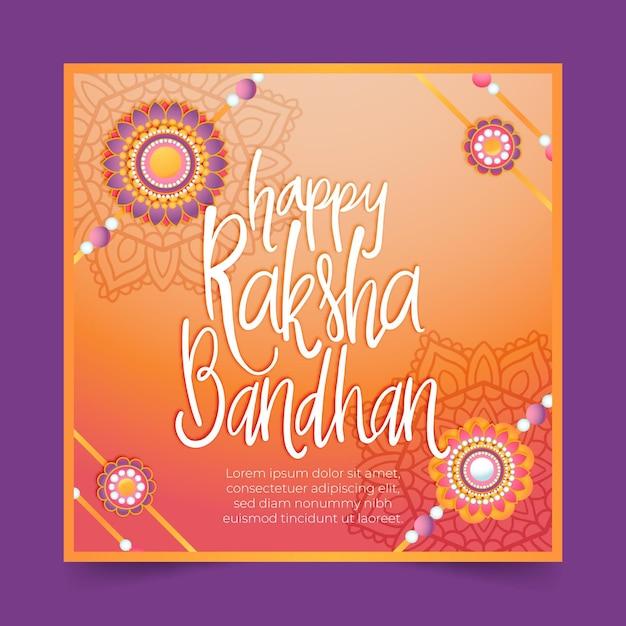 Lettrage Raksha Bandhan Vecteur gratuit