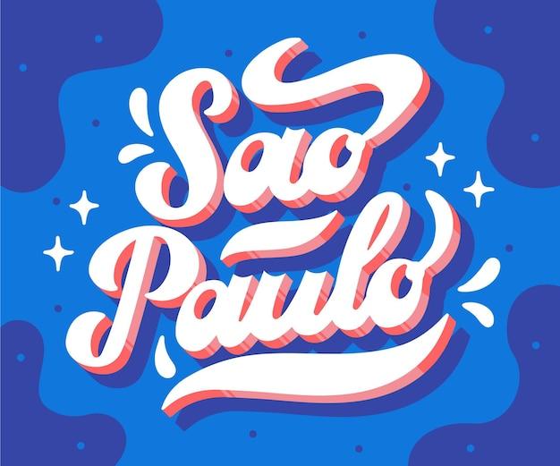Lettrage De São Paulo Vecteur Premium