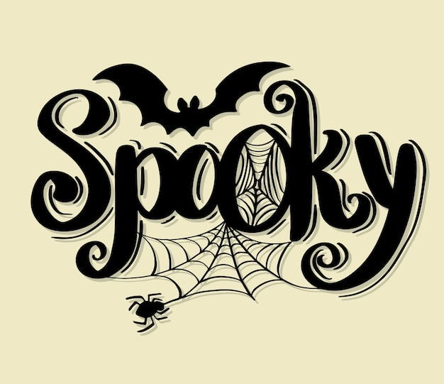 Lettrage de vecteur happy halloween calligraphie de vacances. Vecteur Premium