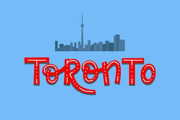 Lettrage De La Ville De Toronto Vecteur gratuit