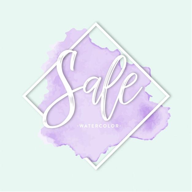 Lettrage violet vente Vecteur gratuit