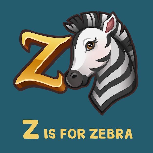 Lettre Alphabet Enfants Z Et Zèbre Vecteur Premium