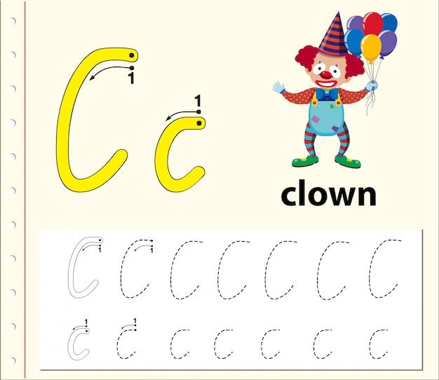 Lettre b traçant des feuilles d'alphabet Vecteur Premium