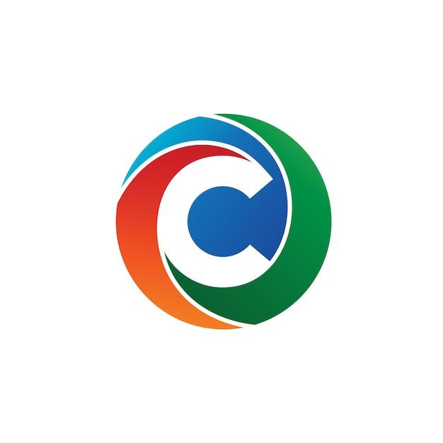 Lettre c cercle logo vectoriel Vecteur Premium
