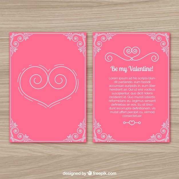 modele de lettre pour la saint valentin Lettre d'amour pour la Saint Valentin | Télécharger des Vecteurs  modele de lettre pour la saint valentin