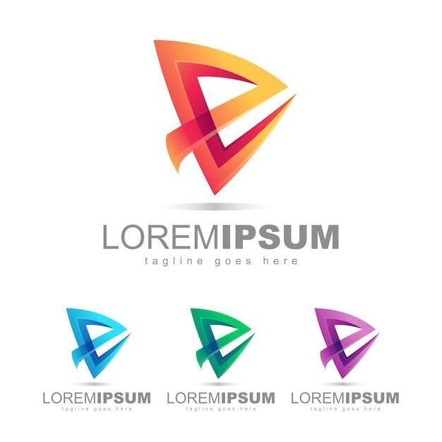 Lettre e logo design vector Vecteur Premium
