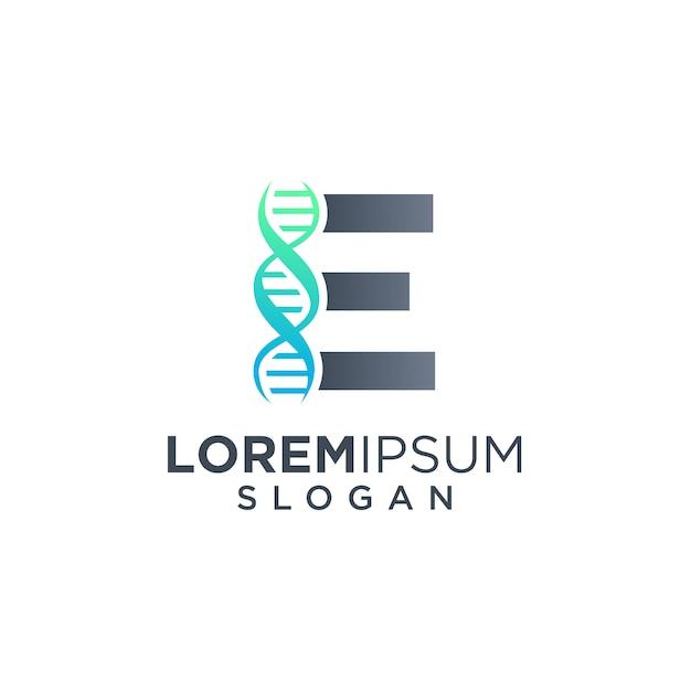 Lettre E Logo Dna Vecteur Premium