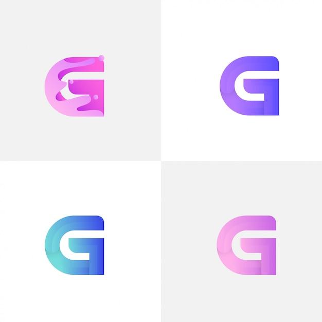Lettre g avec liquide Vecteur Premium