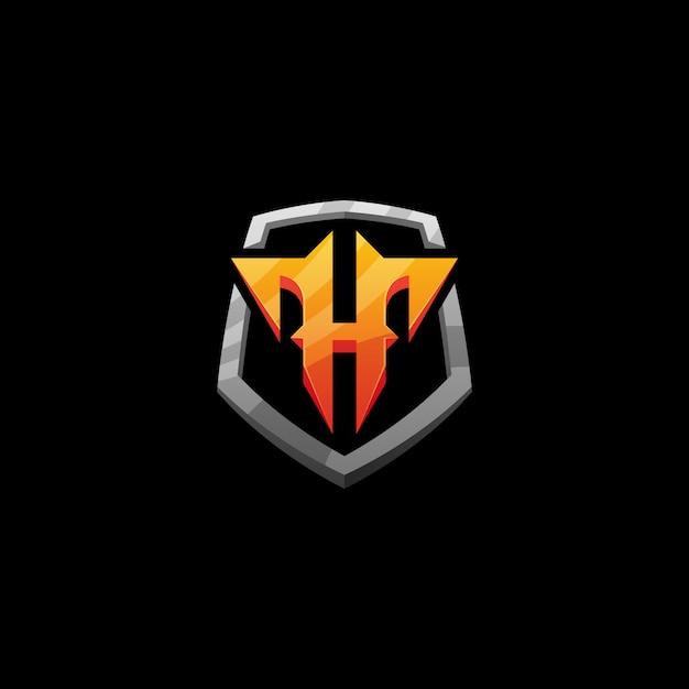 Lettre h sport Vecteur Premium