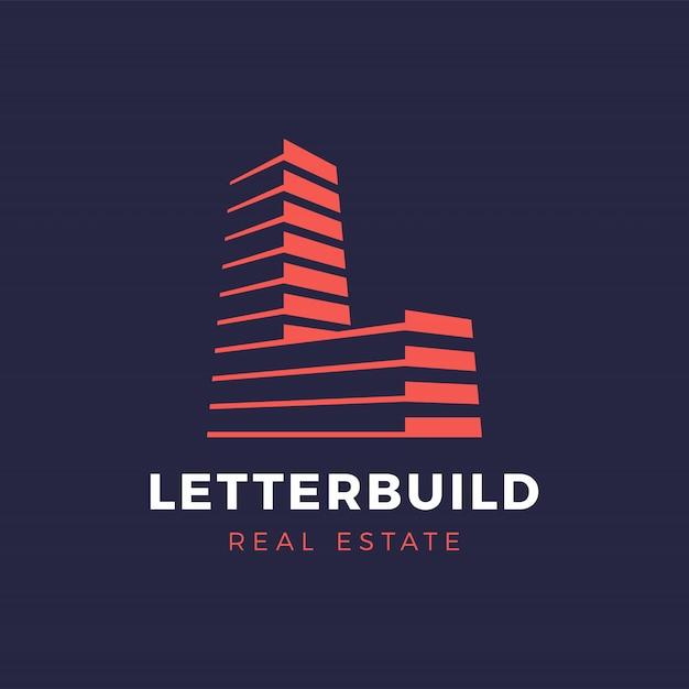 Lettre L Immobilier Et Services De Construction Logo Vecteur Premium