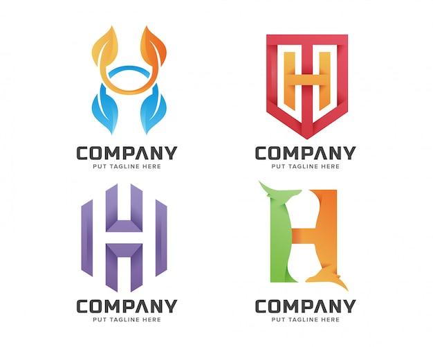 Lettre initiale h logo modèle pour entreprise Vecteur Premium