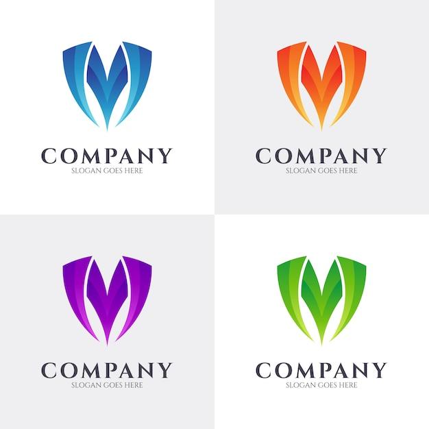 Lettre Initiale M Logo Vecteur Premium
