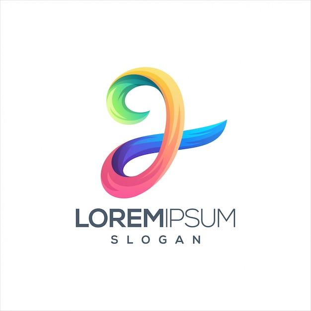 Lettre j logo illustration Vecteur Premium